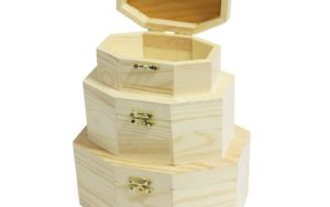 Curtzy Trio Of Wooden Hexagon Shaped Boxes Review