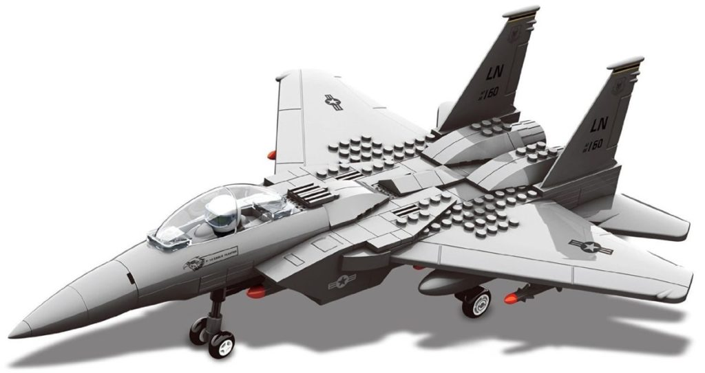 Race Interlocking Blocks F15 Fighter Jet Model Review