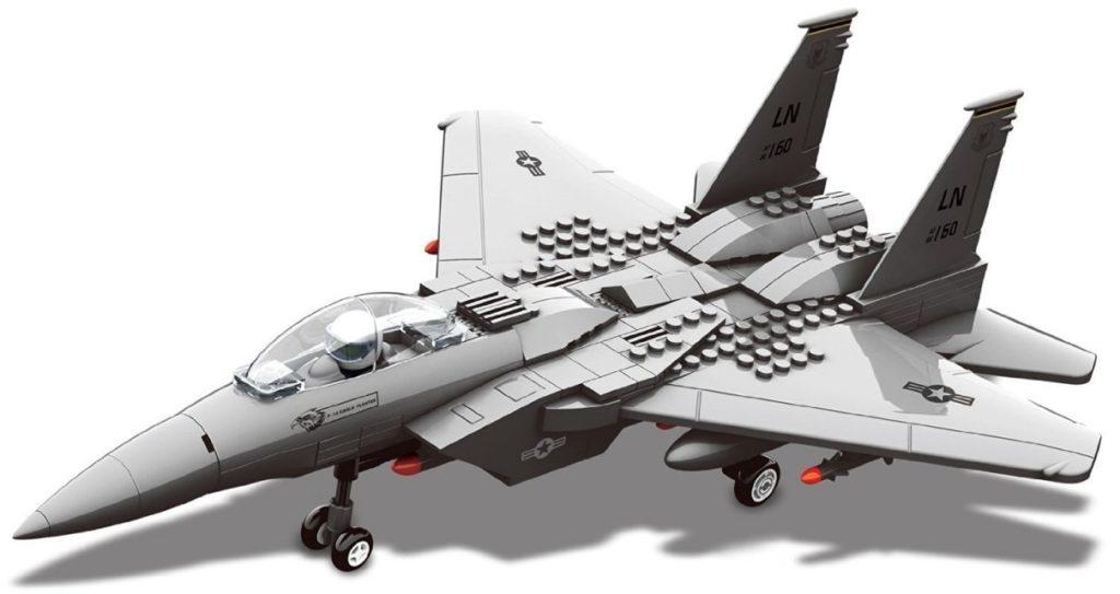 Race Interlocking Blocks F15 Fighter Jet Model Review
