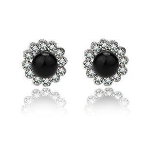 EVBEA Faux Black Pear Clip On Earrings Review